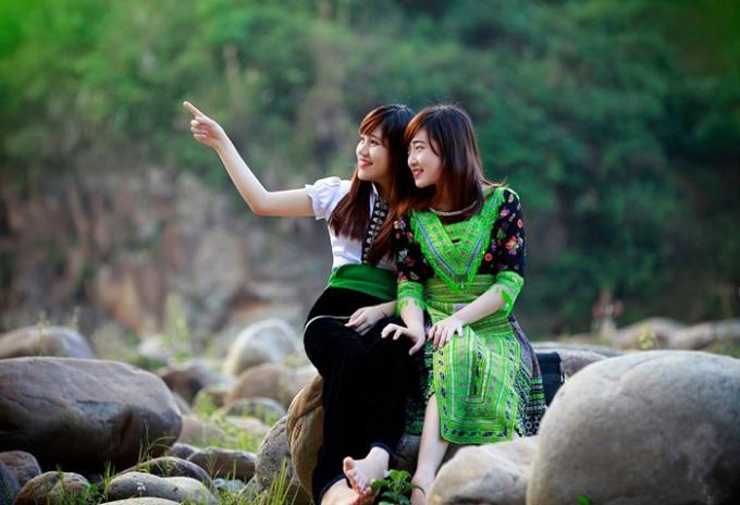 Vẻ đẹp nao lòng của những sơn nữ dân tộc Thái, Mông vùng Tây Bắc. Ảnh: Internet