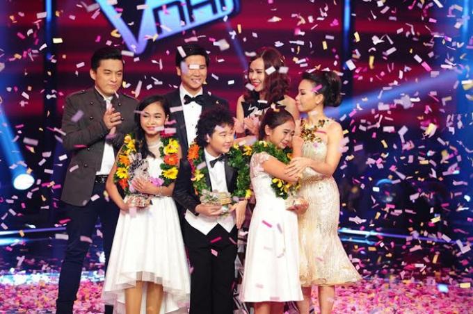 Giọng hát Việt nhí được đề cử ở hạng mụcChuỗi chương trình của năm ghi dấu. Ảnh: Internet