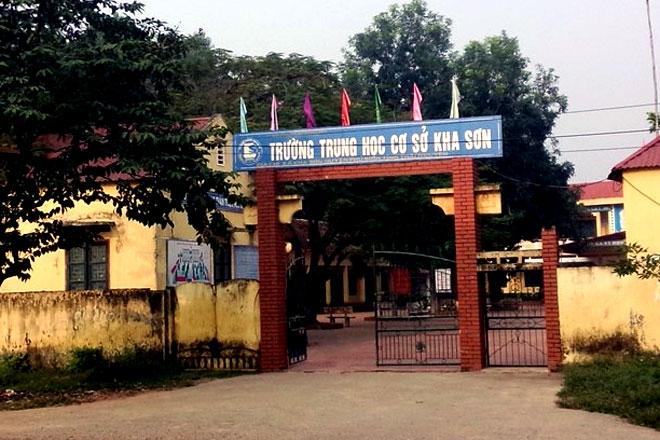 trường THCS Kha Sơn nơi xảy ra vụ việc