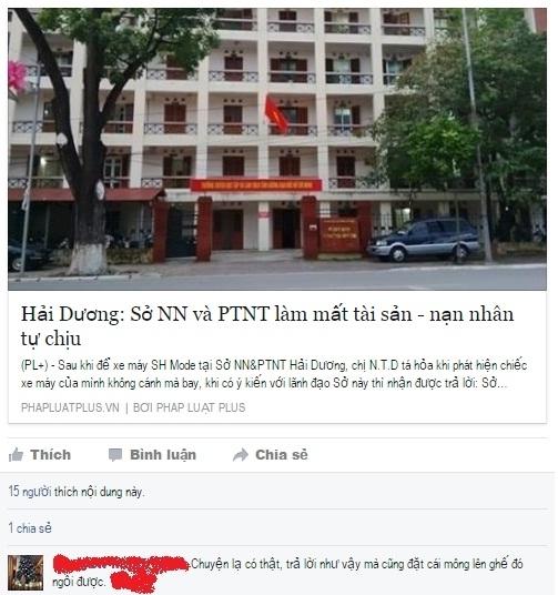Ý kiến của độc giả phản ánh thể hiện rõ sự bất bình với câu trả lời của ông Phú mà Phóng viên Phapluatplus.vn ghi nhận được.