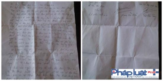 Biên bản bàn giao chiếc áo được lập và có chữ kí của cán bộ điều tra công an tỉnh Hưng Yên và gia đình anh Duyệt.