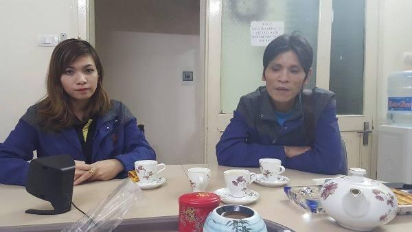 Vợ chồng sản phụ Nguyễn Thị Kim Hiền ra cầu cứu báo Phapluatplus.