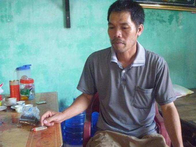 Chú Lê Xuân Vệ bố của Xoa chia sẻ với phóng viên