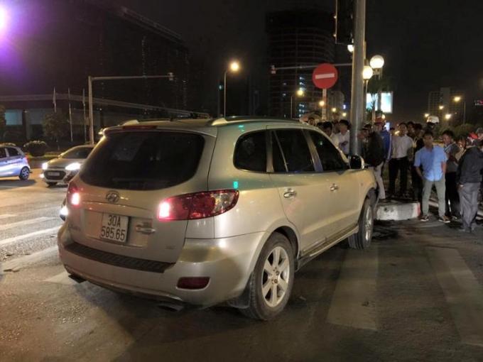 Chiếc xe Santafe gây tai nạn