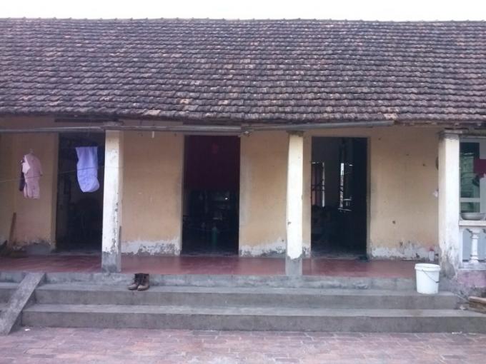 Ngôi nhà mà 2 mẹ con cô Cháng đang ở hiện nay.