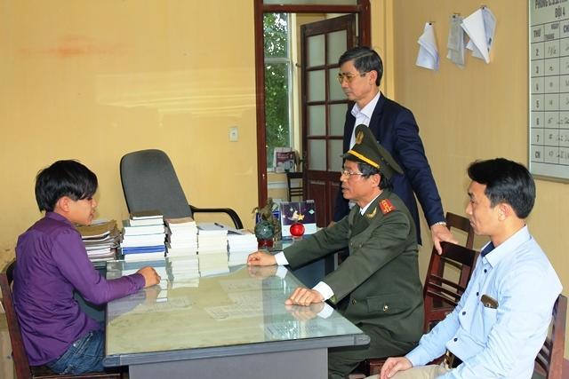 Đối tượng Phạm Minh Vương tại cơ quan điều tra