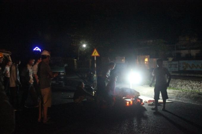 Hiện trường vụ tai nạn (ảnh Minh Đức)