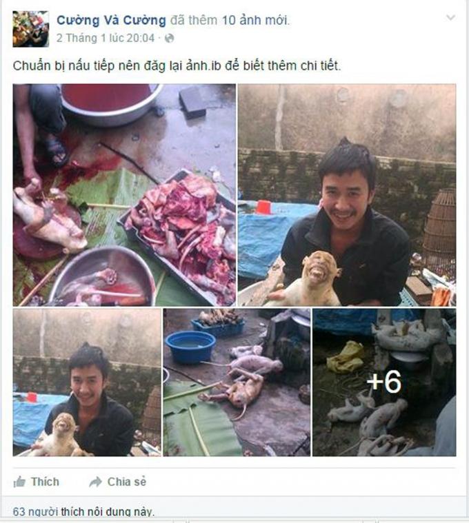 Chu Văn Cường khoe ảnh giết khỉ nhưng không bị phạt (ảnh chụp từ facebook).