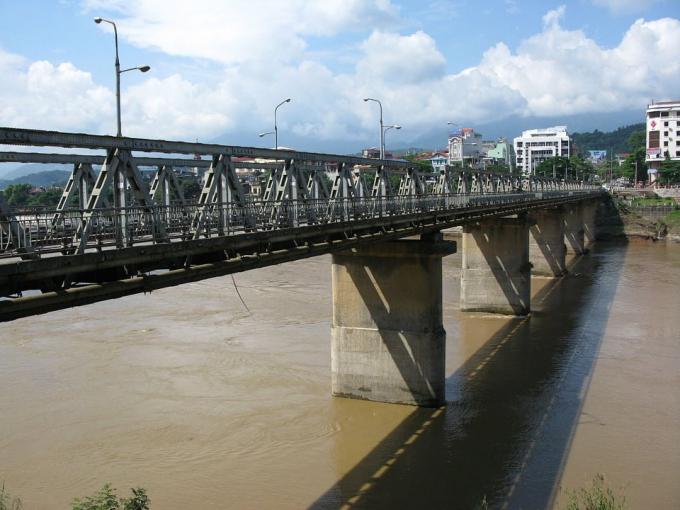 Cầu Cốc Lếu (Lào Cai) nơi xảy ra sự việc.