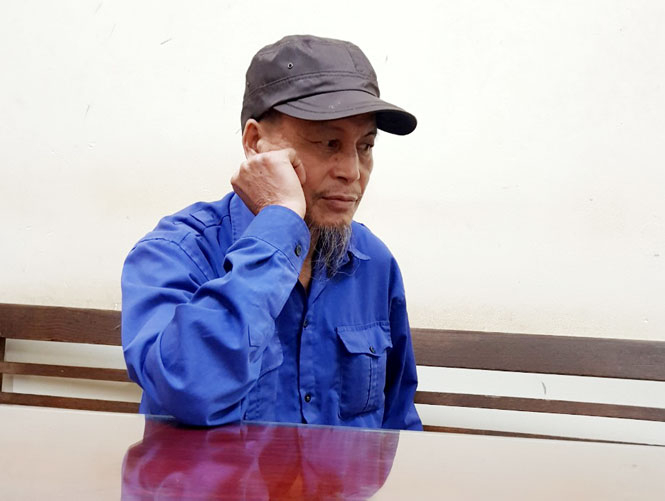 Đối tượng Vũ Văn Việt bị tạm giữ tại Công an huyện Phú Bình. (Ảnh: CA Thái Nguyên)