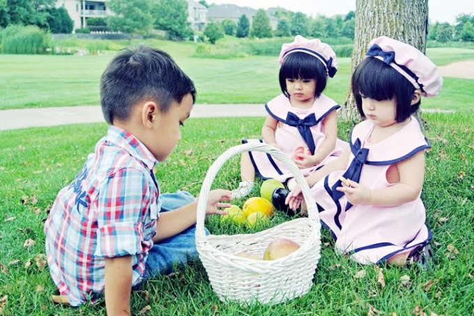Ba đứa con là niềm hạnh phúc của vợ chồng Huyền Ny