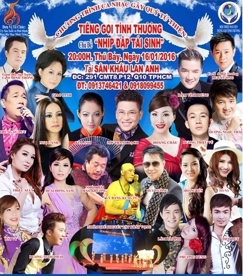 Dàn sao Việt hội tụ đêm nhạc Nhịp đập trái tim