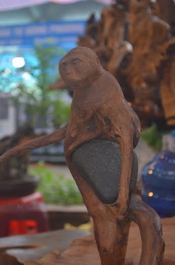Khỉ gỗ ôm.