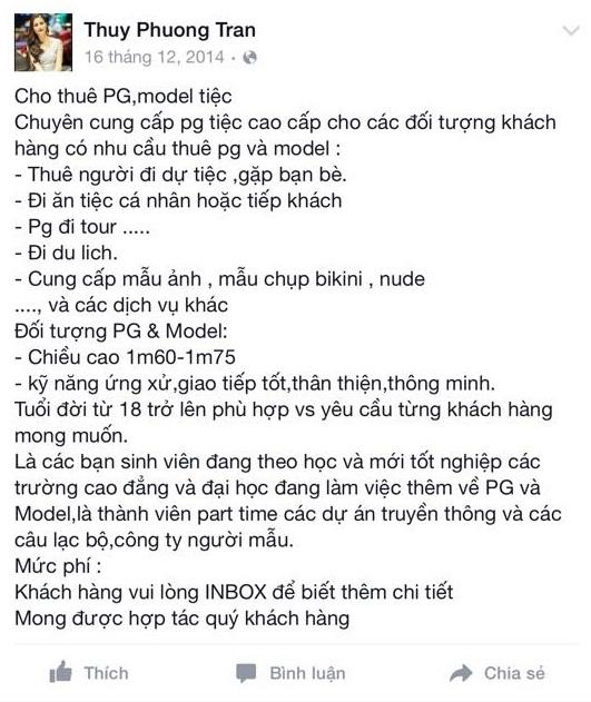 Quảng cáo PG của Thuy Phuong Tran