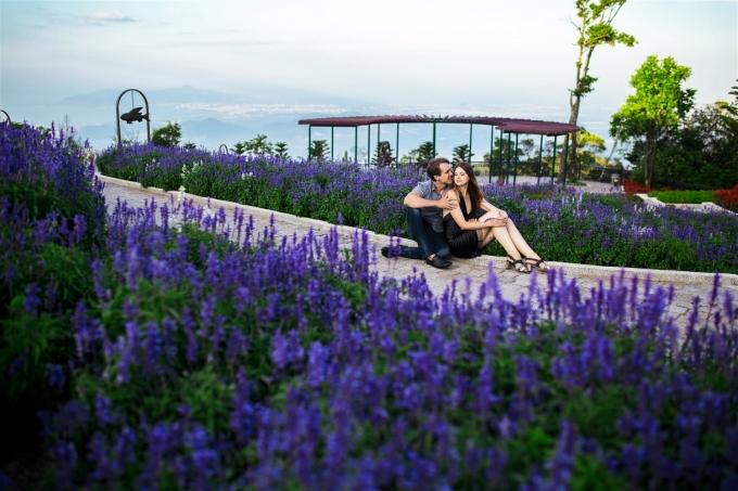 Khu vườn tình yêu muôn sắc hoa.