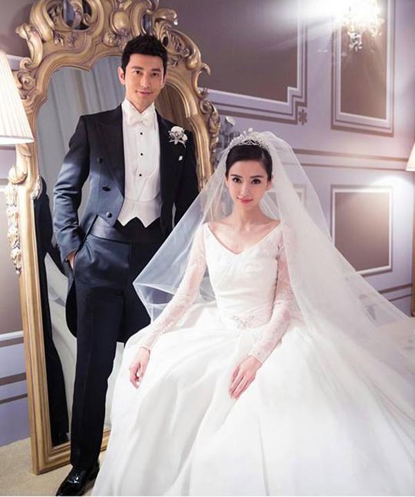 Cặp đôi Huỳnh Hiểu Minh - Angela Baby khiến làng giải trí châu Á phải choáng ngợp bởi đám cưới xa hoa có một không hai. Ảnh: Internet