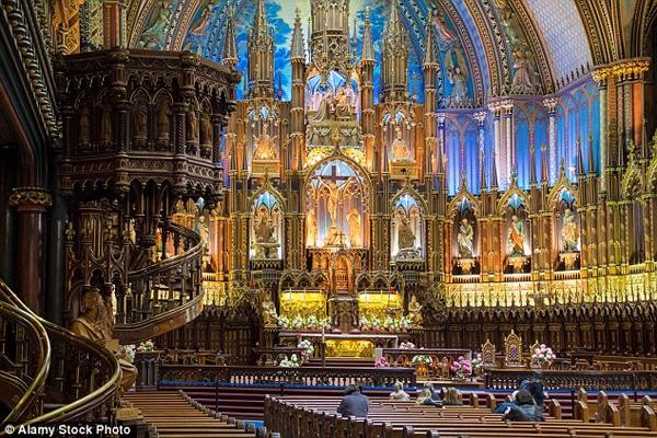 Tang lễ của chồng Celine Dion sẽ được tổ chức vào ngày 23/1 tại nhà thờ ở Montreal, quê nhà của nữ ca sĩ. Nhà thờ này cũng là nơi cặp đôi đã tổ chức lễ cưới vào năm 1994. Ảnh: Dailymail