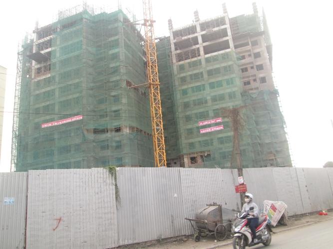 khu chung cứ đang trên quá trình xây dựng
