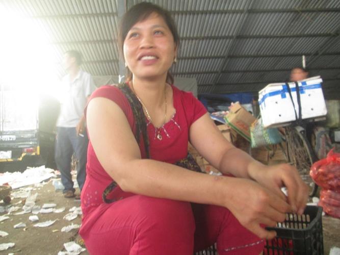 Chị Nguyễn Thị Nụ ( Hoài Đức) trả lời phòng vấn
