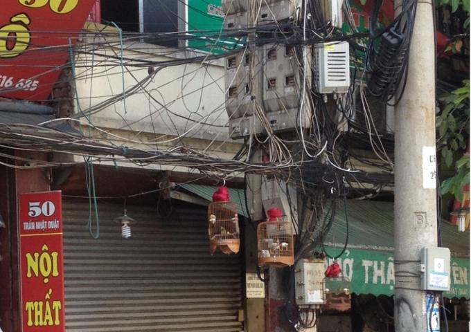 Không những thế người dân còn lợi dụng những sợ dây điện sa này nhằm treo lồng chim.