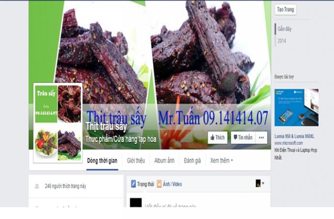 Thịt trâu sấy không rõ nguồn gốc đang được bán tràn lan trên cộng đồng mạng.