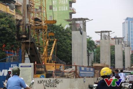 Dự án đường sắt đô thị số 3, đoạn Nhổn - ga Hà Nội chuẩn bị thi công phần đi ngầm ở Kim Mã.