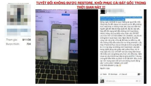 Nhiều người dùng phản ánh iPhone bản quốc tế bỗng nhiên bị khoá lại sau khi