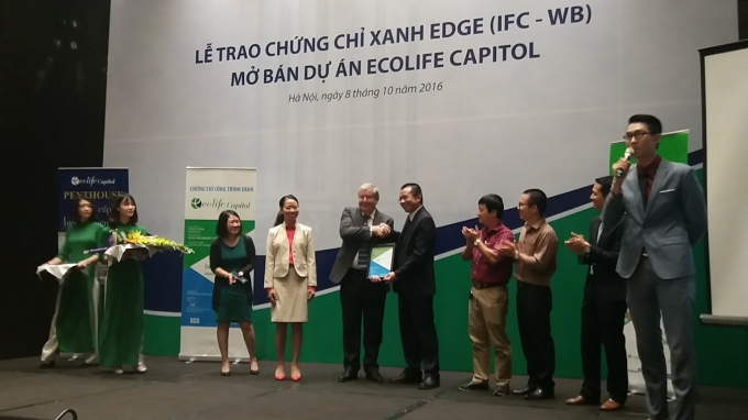 Dự án EcoLife Capitol nhận chứng chỉ xanh EDGE