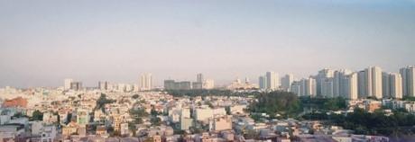 """""""View"""" củacăn phòng nơi Sơn Tùng sốngtuyệt đẹp."""