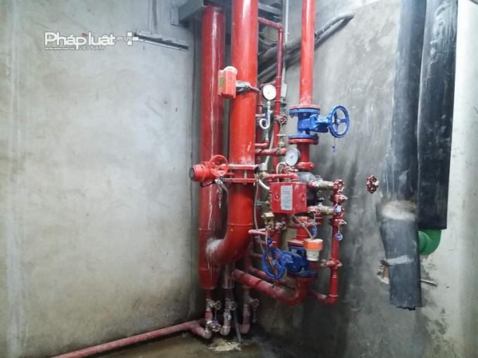 Hệ thống nước vẫn đang được lắp đặt, hoàn thiện.