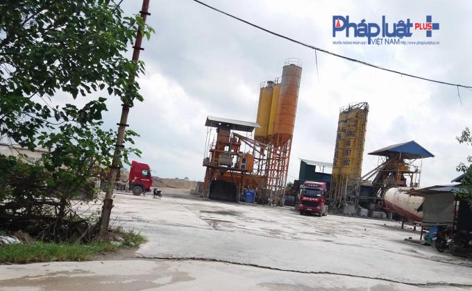 Trạm trộn bê tông không phép củaCông ty Cổ phần Đầu tư Sông Đà - Việt Đức