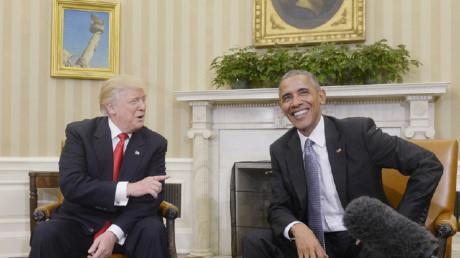 Hai vị tổng thống nước Mỹ. Ảnh: Newscom/ Weeklystandard