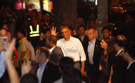 Hình ảnh Tổng thống Obama trong chuyến thăm Việt Nam năm 2016. Ảnh: Phạm Hải