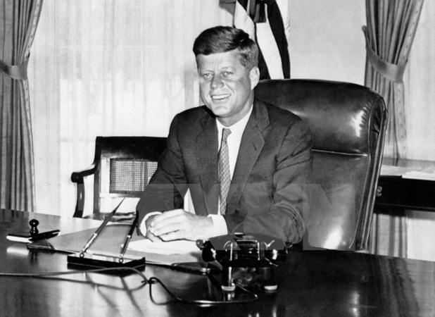 Cố Tổng thống John F. Kennedy tại Nhà Trắng ngày 1/1/1961. (Nguồn: AFP/TTXVN)