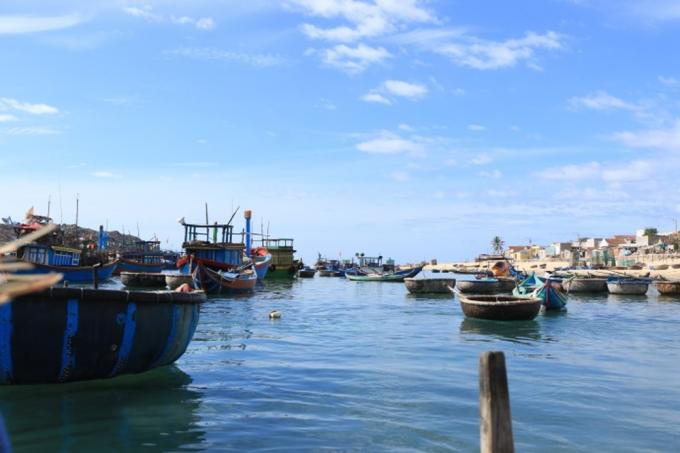 Tới làng chài Nhơn Hải, du khách có thể cảm nhận nhịp sống địa phương, trải nghiệm đánh bắt hải sản và thưởng thức hải sản tươi sống.