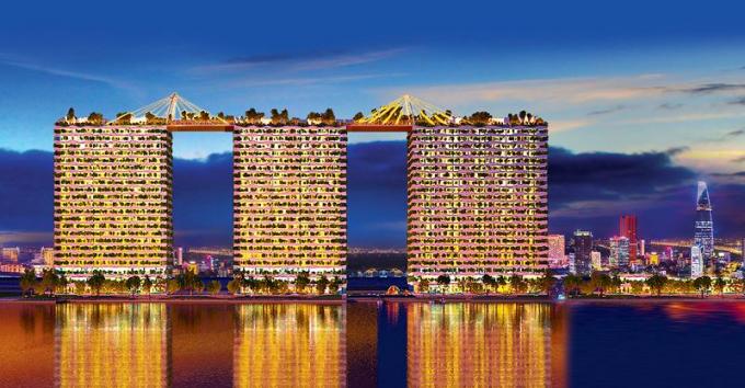 Diamond Lotus Riverside sẽ là dự án căn hộ xanh tiêu chuẩn mỹ đầu tiên tại Việt Nam.
