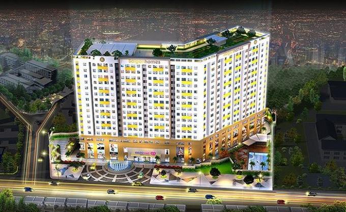 Dự án khu chung cư Nhà Sài Gòn (Saigon Home) đang được chủ đầu tư cầm cố ở ngân hàng