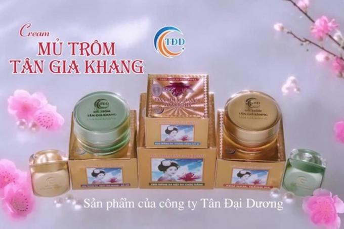 Sản phẩm Cream mủ trôm Tân Gia Khang do Công ty Tân Đại Dương sản xuất. (Ảnh minh hoạ)