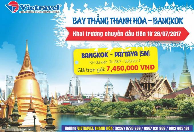 Thời gian bay đến Bangkok đã rút ngắn chỉ còn 1h30'