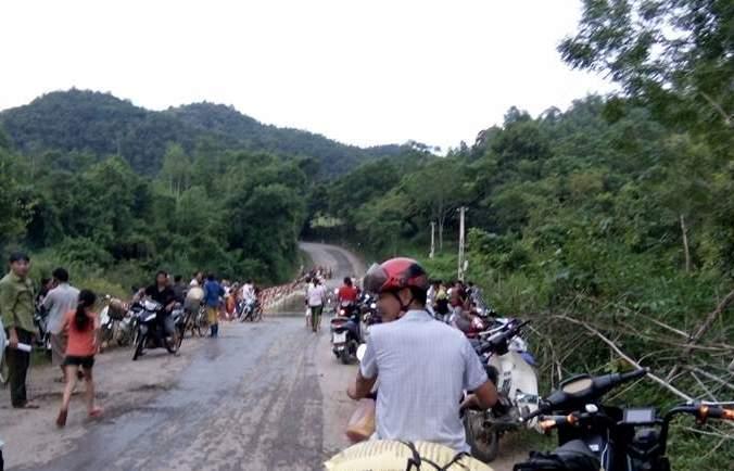 Đập Bai Mường, nơi phát hiện thi thể nam công nhân. (Ảnh: A.T)