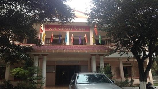 UBND xã Vĩnh Yên, nơi ông Giản giữ chức Chủ tịch trong nhiệm kỳ vừa qua.