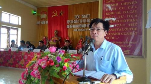 Sau khi ký hàng loạt Quyết định sai phạm, ông Phạm Bá Oai, nguyên Chủ tịch UBND huyện Hoằng Hóa đã lên giữ chức Phó Chủ tịch HĐND tỉnh Thanh Hóa. (Ảnh: hoanghoa.gov.vn)