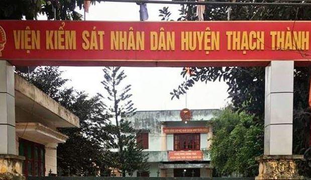 Trụ sở VKS Thạch Thành, nơi phát hiện ông Hưng tử vong.