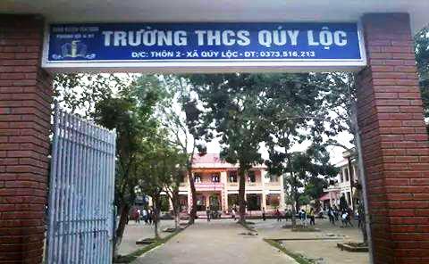 Trường THCS Quý Lộc, nơi xảy ra vụ việc thầy giáo nhập viện do người nhà học sinh đuổi đánh