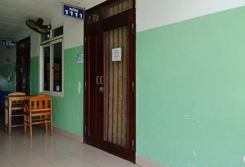 Căn phòng mang số 1111 nơi cựu đại tá Phương nằm điều trị tại bệnh viện Đa khoa Hợp lực
