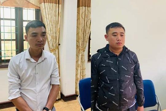 Hai bị can Nguyễn Văn Đức và Dương Văn Trung có hành vi tẩy xóa, lập khống hồ sơ đền bù