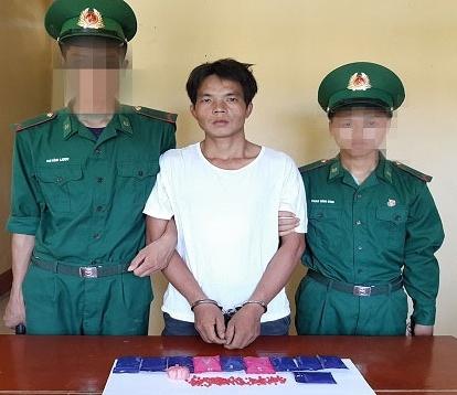 Giàng An Câu cùng tang vật ma túy bị bắt giữ