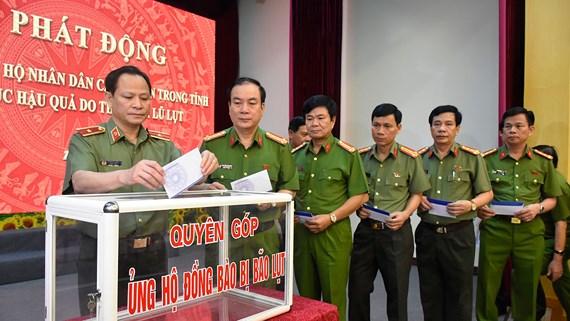 Công an tỉnh Thanh Hóa phát động lực lượng toàn ngành ủng hộ, chia sẻ khó khăn đối với đồng bào vùng bão lũ