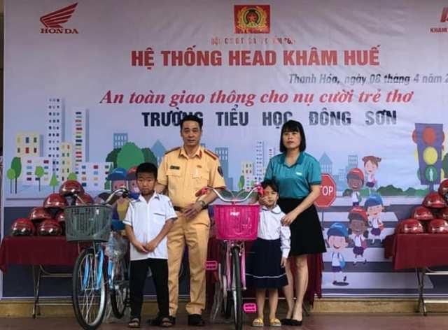 """""""An toàn giao thông cho nụ cười trẻ thơ"""" sẽ được thực hiện hằng năm đến với mọi học sinh trên địa bàn"""