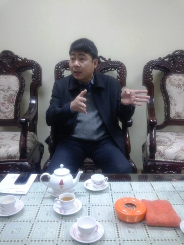 Ông Hoàng Minh Toàn, Phó Cục trưởng Cục Đường thủy nội địa Việt Nam trao đổi với PV.